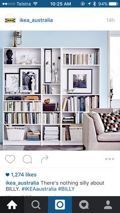 How to style the billy bookcase in the library