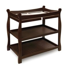 Badger Basket Sleigh Style Changing Table, Espresso   -Click image twice for more info - See a  larger selection of diaper changing tables at http://zbabyproducts.com/product-category/diaper-changing-tables/ -baby,kids,child, nursery,infant,baby products, baby gift ideas
