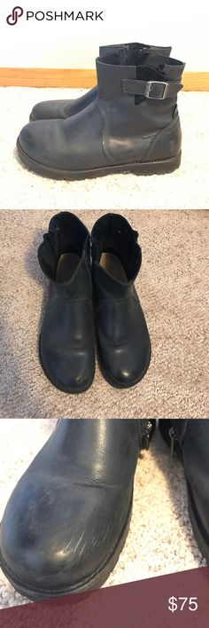 Birkenstock Stowe Bootie Authentic Birkenstock boot. Very comfortable and cute! Size 40 eu and fit a 9 in women's us. Scuff pictures otherwise in great condition. Birkenstock Shoes Ankle Boots & Booties