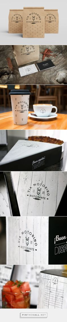 Ristorante Via motorino. take away packaging / María de Benito Salazar