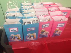 Smurf Birthday party bags
