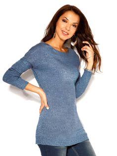 Jersey mujer manga larga tricot con canalé