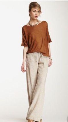15e82a82110 Ann Taylor LOFT Wide Leg Linen Pants Size 6