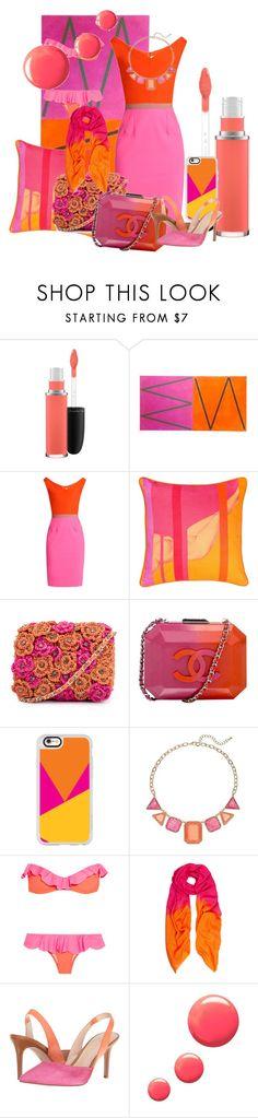 """Orange & Pink"" by morningsjoy ❤ liked on Polyvore featuring beauty, MAC Cosmetics, Emilio De La Morena, BIVAIN, Chanel, Casetify, Je m'en fous, Allegra London, Nine West and Topshop"