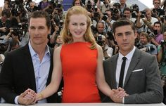"Cast members McConaughey, Kidman and Efron pose during a photocall for the film ""The Paperboy"" by director Lee Daniels, in competition at the 65th Cannes Film Festival"