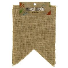 The Paper Studio Large Burlap Pennants | Shop Hobby Lobby