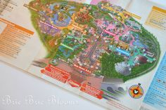 Disneyland Map Placemat - must do!