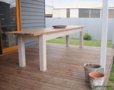 apprentice extrovert: Outdoor Table Reveal!!