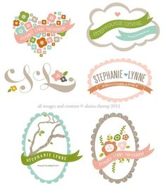 use of banners // soft colour scheme // touch of whimsy