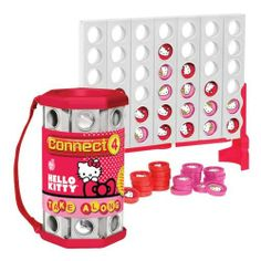 Take Along Connect 4 - Hello Kitty Basic Fun Hello Kitty Games, Hello Kitty Toys, Hello Kitty Bag, Hello Kitty Collection, Sanrio, Connect, Fun, 10th Birthday, Peeps