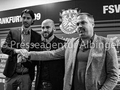 Sportdirektor Roland Benschneider (links), Roland Vrabec (mitte), Geschäftsführer Clemens Krüger (rechts). Fsv Frankfurt, Sport, Che Guevara, Deporte, Sports