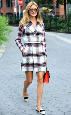 Olivia Palermo from Celebs in Plaid  Using her expert sartorial senses, she combines a Kohl's Thakoon for DesigNation vest with a plaid button-down for one polished