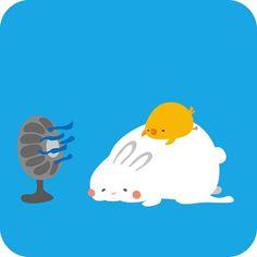 Rabbit & Chick!! うさぎ&ひよこ! #illustration #art #rabbit #bird #絵 #イラスト #うさぎ #ひよこ