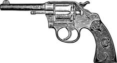 Vintage Colt Temporary Tattoo