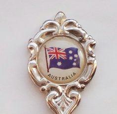 Collector Souvenir Spoon Australia Flag Emblem