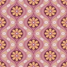 bradbury & bradbury - kooky in daisy coral