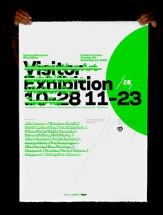 Visitor Interactive Art Exhibition Silk Screen Poster