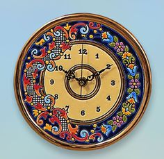 madeinandalusia.es Clock Plate 17 CMS. Handmade in Sevilla. Isbiliya (Al-Ándalus). Enamels and 24K gold