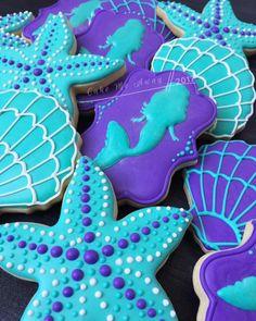 I love everything mermaid, especially the colors. 💜  #cakemeaway #cakemeawayfresno #mermaid #mermaidcolors #mermaidtheme #1stbirthday #underthesea #mermaidcookies #starfish #starfishcookies #customcookies #cookiestyle #cookieart #cookiedecorating #royalicing #cookiesofinstagram #instacookies #bakedwithlove #handmadewithlove #happybirthdaybabygirl #mermaidvibes