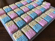 Gender Reveal Chocolate Rice Krispies pinchesofwisdom.com #baby #genderreveal #liveyourbestlife #pinchesofwisdom and #pinchesofwisdom.com #NessysBakeShop