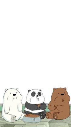 We bare bears ❣️ Snoopy Wallpaper, Cute Panda Wallpaper, Funny Iphone Wallpaper, Emoji Wallpaper, Cute Disney Wallpaper, Kawaii Wallpaper, Cute Wallpaper Backgrounds, We Bare Bears Wallpapers, Panda Wallpapers