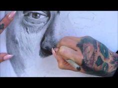 How to Draw Realistic Portrait Tutorial ( Robert De Niro) Part 2 Realistic Drawings, Art Photography, Facebook, Portrait, Videos, Animals, Robert De Niro, Artistic Photography, Animais
