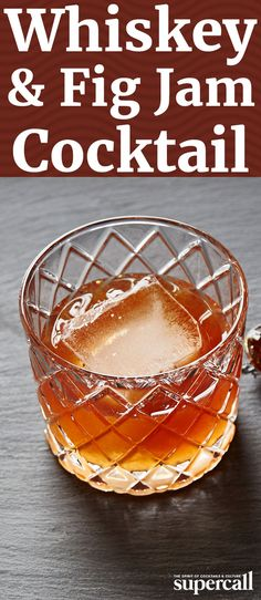 Blending bourbon with a small measure of fig jam is an easy way to turn a spirit into a cocktail. Topped off with aromatic Angostura and orange bitters, which bring out the fruity and spiced notes in both the whiskey and the jam, it's the ideal, simple drink to make.