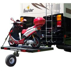 A great option for those who need a bit more space for scooters, dirt bikes, and smaller cargo, without the hassle of a traditional trailer.