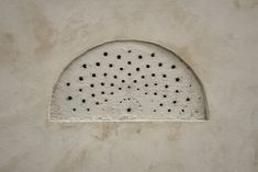 https://flic.kr/p/21dkZfn | Concetto Spaziale (Spatial Concept) | Unintentional art of hand-drilled ventilation holes.  Paris, France . . . . . See many more examples from my collection on the Concetto Spaziale (Spatial Concept) pinboard on pinterest. Dedicated to Lucio Fontana.