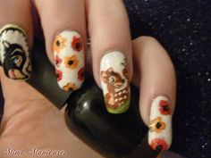 Hello Ckikkas i am back on this Monday evening with another nail art mani for you in the form of the sweetest character that Disney created. Disney Day, Disney Nails, Disney Inspired, Bambi, Pretty Nails, Nail Ideas, Nail Art Designs, Manicure, Nail Polish