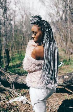 Grey Box Braids, Ombre Box Braids, Box Braid Hair, Colored Box Braids, Long Box Braids, Black Girl Braids, Braids For Black Hair, Girls Braids, Long Braided Hairstyles