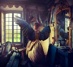 Gorgeous photo manipulation, I love the blending of the fairy tale element with the styling of the room and dressing of the woman. This level of skill in manipulation is astounding and I love it! I someday wish ti be this competent in computer applications