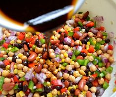 You'll love this super-easy, protein and fiber-filled Confetti Bean Salad!!