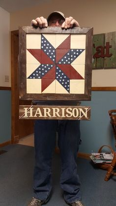Made this out of wood, framed it & personalized it for a deserving veteran.