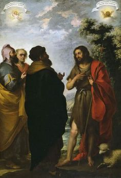 St. John the Baptist with Scribes and Pharisees - Bartolome Esteban Murillo - WikiPaintings.org