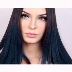 Evon Wahab Makeupbyevon  Blue hair teal hair