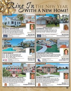 Ring in the New Year with a New Home! Look at these great listings in our new issue of Homes & Land Magazine New Orleans that you can make yours in this new year! Get your copy today!