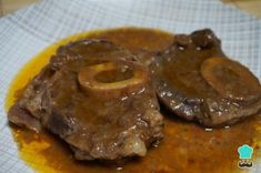 Ossobuco recipe in fast pot , This time I propose a delicious recipe for ossobuco in fast pot, a very juicy meat that is very tender and prepared in a short time. Veal ossobuco is . Super Healthy Recipes, Healthy Dinner Recipes, Meat Recipes, Vegetarian Recipes, Healthy Family Dinners, Le Chef, Beef Dishes, My Favorite Food, Good Food