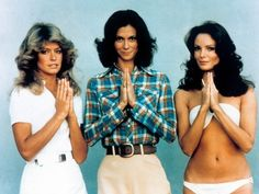 Charlie's Angels, 1976 Farrah Fawcett became one of the most celebrated TV icons ever when she took on the role of private investigator Jill Munroe in hit series Charlie's Angels. She and co-stars Kate Jackson and Jaclyn Smith defined the working woman's wardrobe of the 1970s - checkered shirts, skinny rib vests and, of course, a high waisted pair of flares.