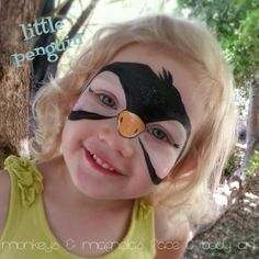 » First attempt at starblends Painting Smiles | face painting penguin | monkeys and magnolias faba