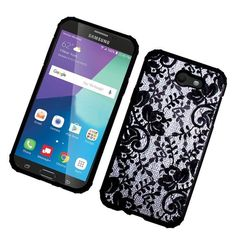 Insten Lace Hard Snap-on Dual Layer Hybrid Case Cover For Samsung Galaxy Amp Prime 2/ Express Prime 2/ J3