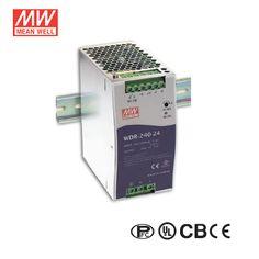 24V 10A 240Watt Industrial Power Supply   Mean Well WDR-240-24   DIN Rail