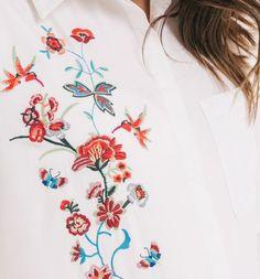 Haftowana koszula biały - Promod