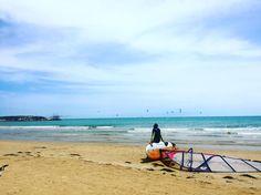 Aspettando il buon vento #Vieste #estate #summer #vele #Italy #surf #Apulia