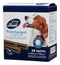✔ REAL DOG Purutanko 4x7x20g Size M - Lemmikkieläimet - Tokmanni