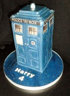 I know its not usual for a 4 year old to want a Dr Who cake – but it seems his dad loves to watch – and so does son. dr who tardis birthday cake