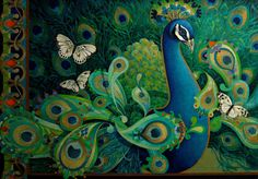 The Paisley Peacock by David Galchutt via Etsy
