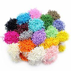 288 шт. 3 мм нескольких цветов варианты жемчуг цветок тычинки пестик торт украшение для DIY Двойные головки 11030301 (288) купить на AliExpress
