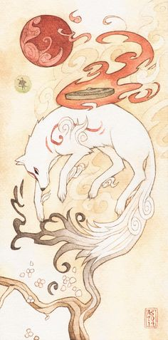 Okami. via: http://driftwoodwolf.tumblr.com/