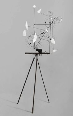 """Metamechanical Sculpture With Tripod"", 1954   By: JEAN TINGUELY  http://www.artexperiencenyc.com/social_login/"